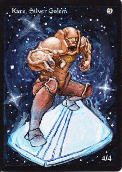 Karn, Silver Surfer Mtg Alter by Wyrdxen
