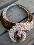 Bead embroidered tentacle collar by dogzillalives