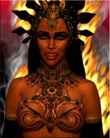 Akasha Queen of the Damned 3d by kerrieanndaly