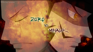 One Piece - Zoro vs Mihawk by TripulacaoOnePiece