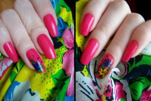 Nails - Flowers by Misty-AnGel