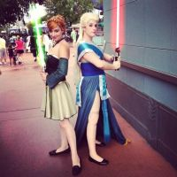 Jedi Anna and Elsa by WickedLover010