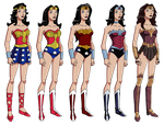 Wonder Woman's Wardrobe by Glee-chan