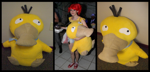 Giant Psyduck Plushie by DablurArt