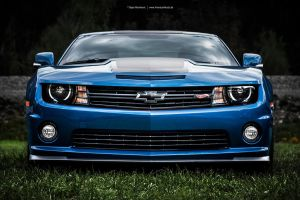 Blue Camaro Front by AmericanMuscle