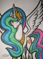 13-02-15 Princess Celestia by Lorfis-Aniu