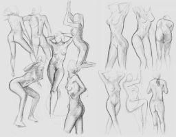 Gestural Studies by Firegardensuite