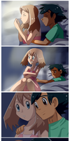 Ash comforts May scared of thunderstorm by Riadorana