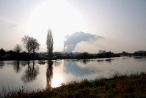 Reflections on the River Trent by taramara