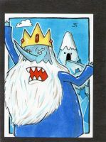 The Ice King's Castle sketch card by johnnyism