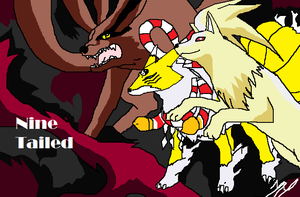 Three anime's most popular ninetailed foxes by NekoHime07