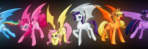 Bat Ponies by junkmaster01