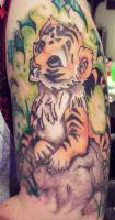 Tiger Cub Tattoo by phantomphreaq