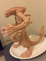 Alien sculpt in progress 2 by royalentertainment