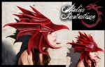 Fafnir dragon leather mask by AtelierFantastique