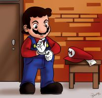 Mario save me by Himitsuboy