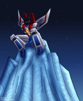 Starscream on an iceberg by WaywardInsecticon