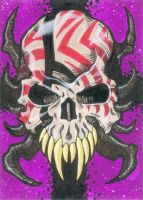 Skull sketch card by Blade1158