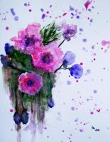 Flowers (watercolor) by AlexandraDart