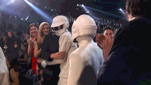 Daft Punk at the Grammys 2014 (gif) by Mii-riam