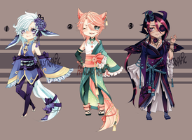 Adopts:: flowery fantasy CLOSED by Pandastrophic
