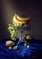 Still life with fruits and autumn pears by Daykiney
