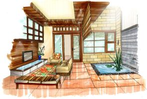 Tropical Living room by shinvan