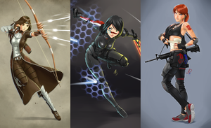 Main characters composite (Polarityplus drawings) by FSEffect