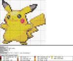 Pikachu XStitch Pattern 3 by niakane