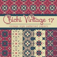 Free Chichi Vintage 17 Patterned Papers by TeacherYanie