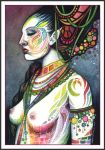 Rainbow Priestess by DragonTreasureArt