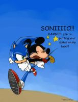 Sonic and Mickey by twisted-wind