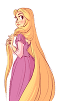 Rapunzel by snarkies