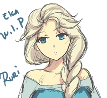 Elsa_Coloredsketch_WIP by RuriSuoh