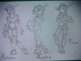 Keira, Tess and Ashelin A4 by jakanddaxter1998