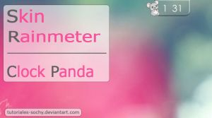 Skin for Rainmeter: Clock Panda by Tutoriales-Sochy
