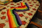 Nearly finished NyanCat scarf by fallen-angel93