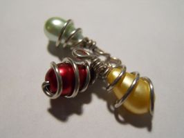 Wire Wrapped Beads by AgtBauer24
