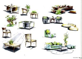 marker furniture sketches by zlaja