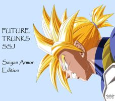 [MS Paint] Future Trunks - Saiyan Armor Edition by MiraiWarriorWithin