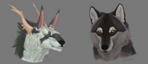 Headshots Batch 3: Ink and Vulkan by LabradoriteWolf
