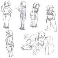 posing practice with alissa by DFoot86
