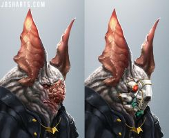 BATMAN: from another world (face variation) by Dogsfather