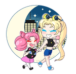 Usagi and Chibiusa by DrSunnyBun
