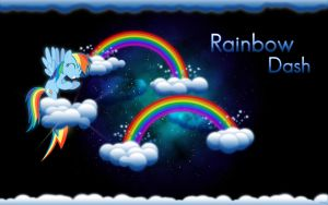 Rainbow Dash Wallpaper #1 by snizzl