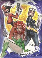A-A Gotham City Sirens by frenchraph