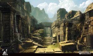 Mayan City - concept by kabaniuch
