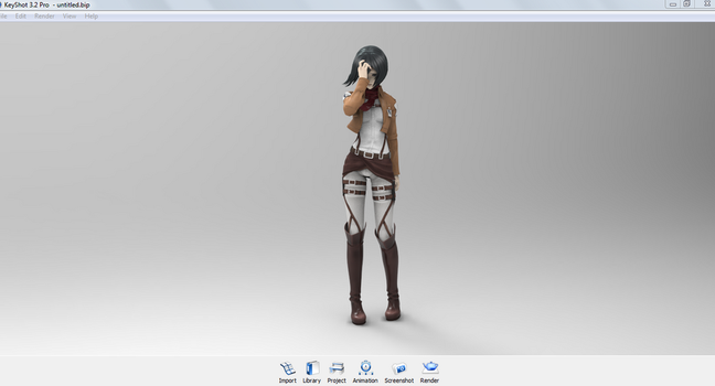 Mikasa Ackerman 3D W.I.P by Sleepinginwonderland