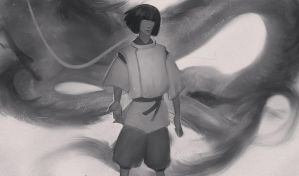 Spirited away. Haku by targso
