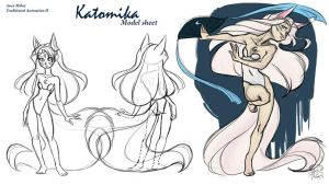 Kat dance model sheet by MoonLightRose17